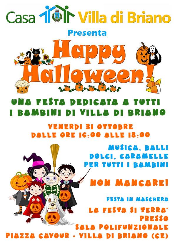 Famoso Happy Halloween festa per i bambini di Villa di Briano Venerdi 31  RA24