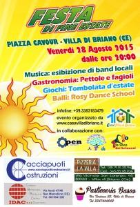 Festa di fine estate – Venerdi 28 Agosto 2015 – Musica, Gastronomia, Balli e Giochi