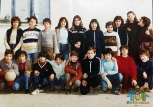"""A.S. 1980-81 – Classe 1E – Scuola Media """"R. Calderisi"""" – Villa di Briano (CE)"""