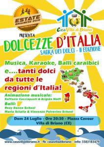Dolcezze d'Italia – Domenica 24 Luglio – Ore 20:30 – Piazza Cavour