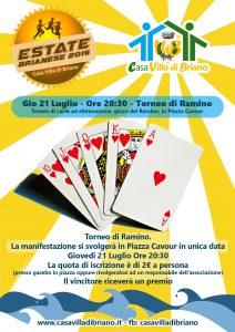 Torneo di Ramino – Giovedi 21 Luglio – Ore 20:30 – Piazza Cavour